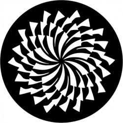B129 Spinning Pinwheel (Glass)