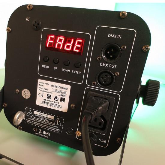 LED 12 Quad RGBW Flat Par Can with IR Remote