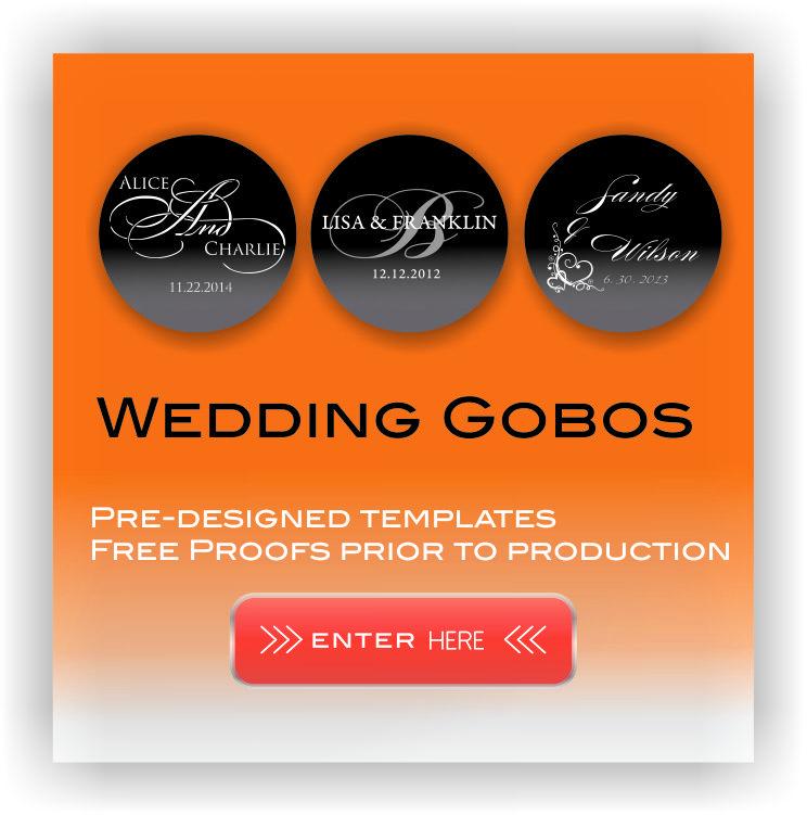 Gobo Projector Diy: Wedding Gobos